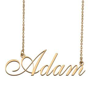 Custom Personalized Adam Name Necklace